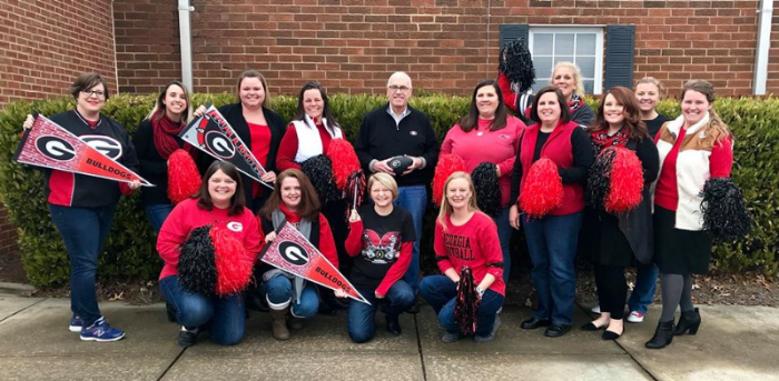 UGA themed group shot