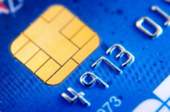 up-close credit card picture