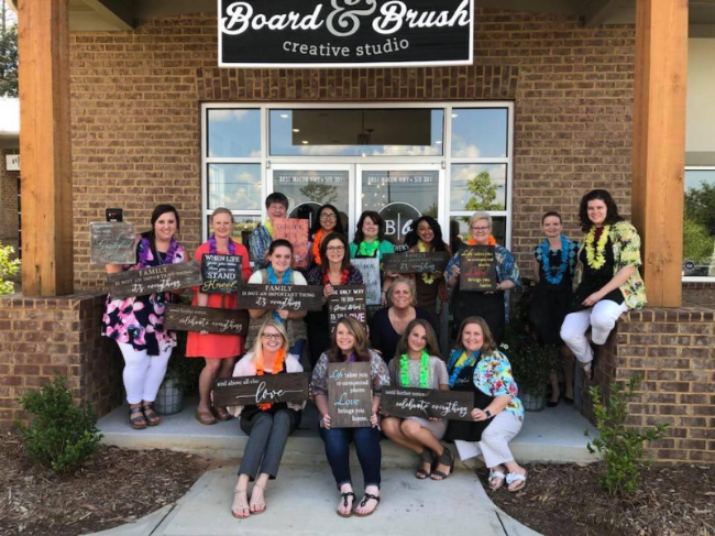 Ladies Night and Board and Brush group picture